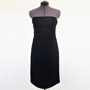 BCBGMAXAZRIA Strapless Ruched Tube Top Dress